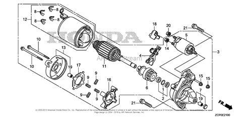 starter motor parts diagram honda engines gx660rh txf2 engine chn vin gcanh 1000001