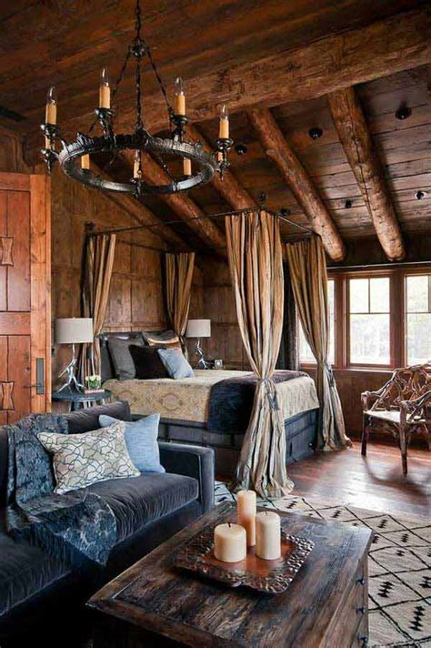 inspiring rustic bedroom designs   winter