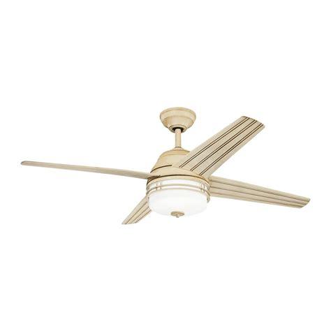 kichler ceiling fans lowes shop kichler lighting porters lake 54 in aged white