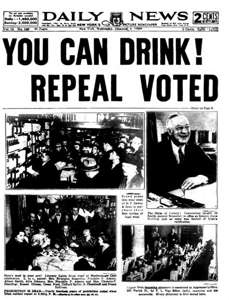 prohibition ends bars toast 80 years since prohibition s end ny daily news