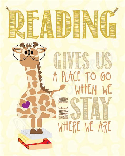 A Place To Read Reading Gives Us A Place To Go Books Outside The Box