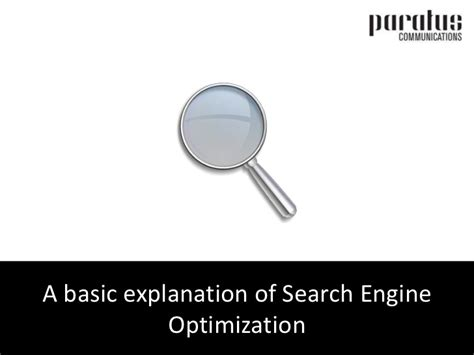 Seo Explanation 1 by Search Engine Optimization Seo A Basic Explanation
