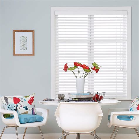 Ready Made Venetian Blinds by Ready Made White Wooden Venetian Blinds With Blue Button