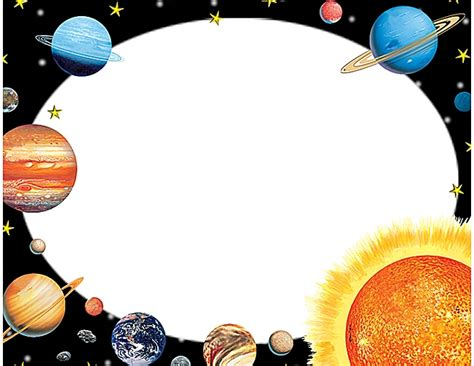 planet writing paper solar system border paper lined page 4 pics about space