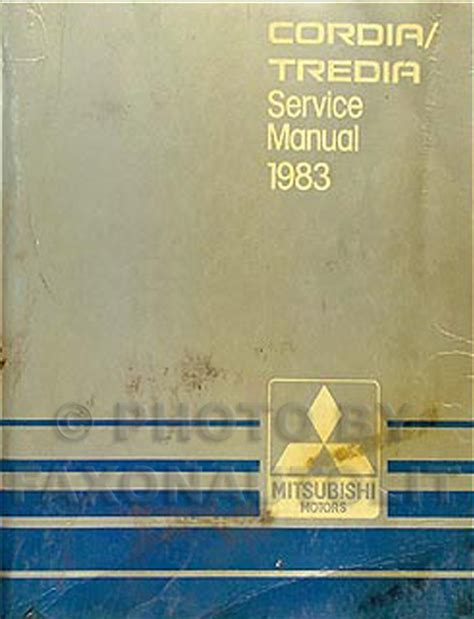 manual repair autos 1984 mitsubishi tredia auto manual 1983 mitsubishi cordia tredia repair shop manual original