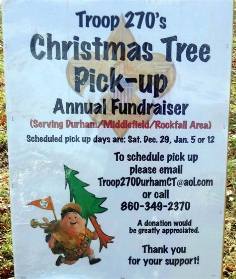 christmas tree pick up christmas tree pick up in durham middlefield rockfall
