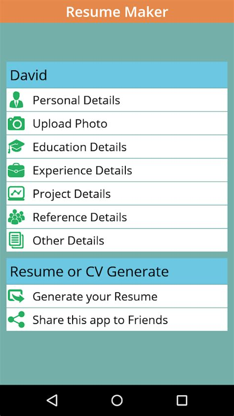 instant resume maker instant resume cv maker free android apps on play