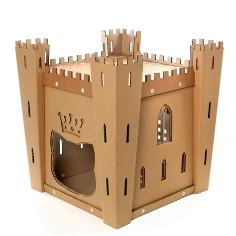 cardboard cat house cat s fortress cardboard cat house medieval toy for your fluffy