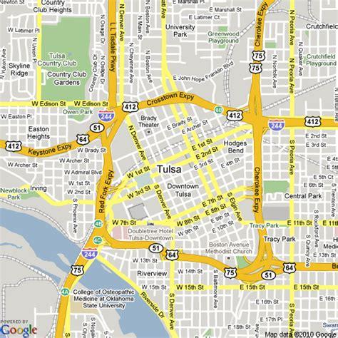 tulsa usa map tulsa ok map images