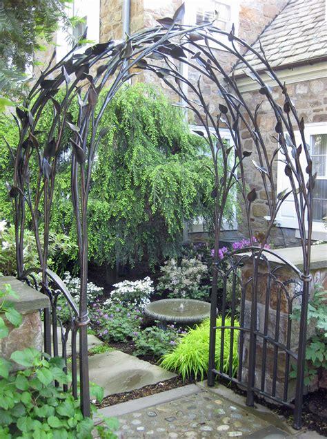 garden iron metal wedding arch on wedding arch tulle
