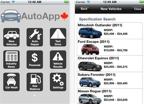 automotive app canadian car information    iphone iphone  canada blog