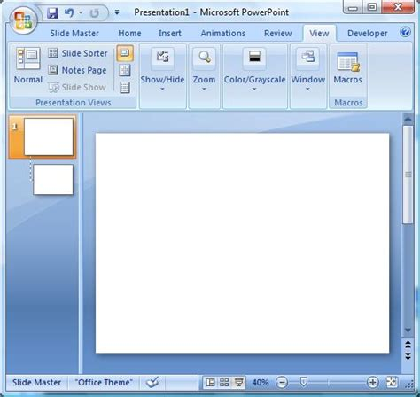 creating a powerpoint 2007 presentation from a folder of