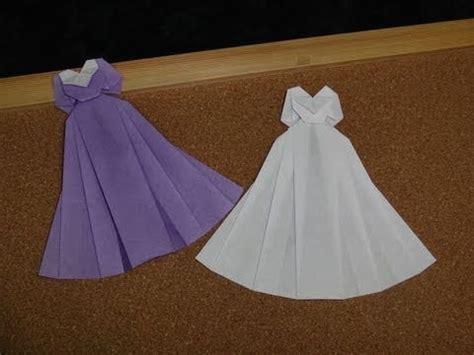 origami wedding how to make an origami dress origami wedding