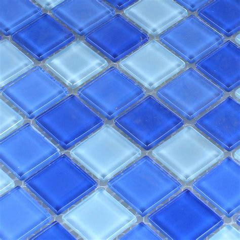 blue mosaic tile glass mosaic tiles light blue 25x25x4mm www mosafil co uk