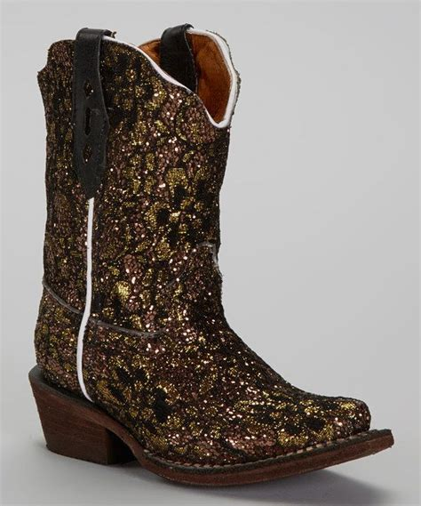 sparkly cowboy boots boots gold glitter tapered toe cowboy boot