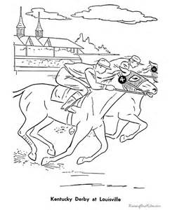 coloring pages of derby horses historic places kentucky derby coloring pages 020