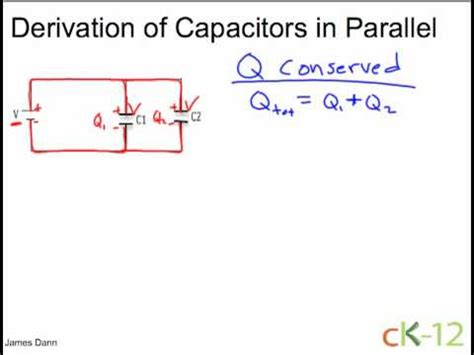 capacitors in series and parallel equations capacitors in series and parallel ck 12 foundation