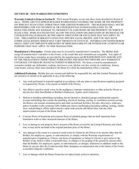 Building Contract Letter Sle Sle Construction Contract 8 Exles In Pdf Word
