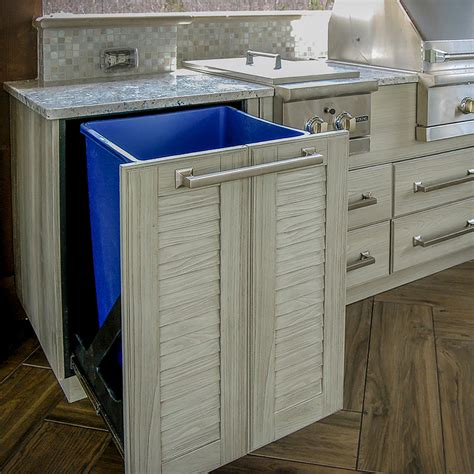 Pvc Kitchen Cabinets Naturekast Outdoor Kitchen Cabinetry Uses Pvc Covered In Resin Woodworking Network