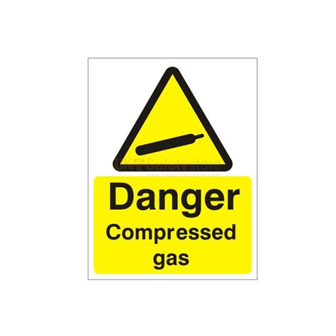 Next Wall Sticker danger compressed gas sign explosive signs warning