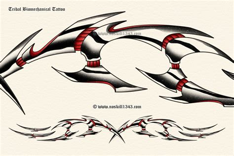 biomechanical tribal tattoo tribal biomechanical by noskill1343 on deviantart