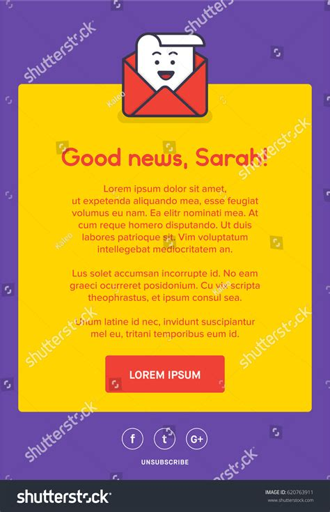 beautiful colourful emailer template design newsletter