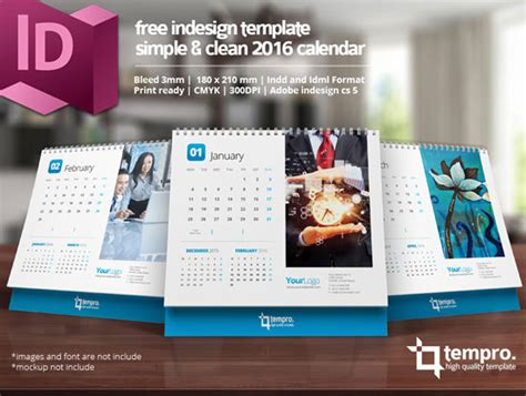 Free 2016 Calendar Design Templates Free Indesign Templates Pinterest Calendar Design Adobe Calendar Template