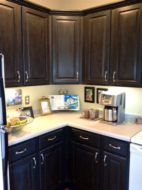 painting kitchen cabinets dark brown annie sloan chalk paint cupboards after painted with