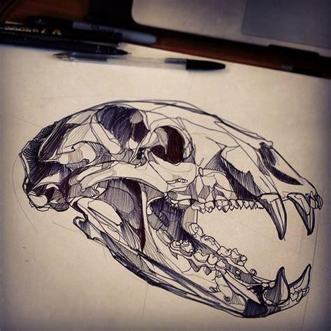 bear skull tattoo skull luke dixon artist