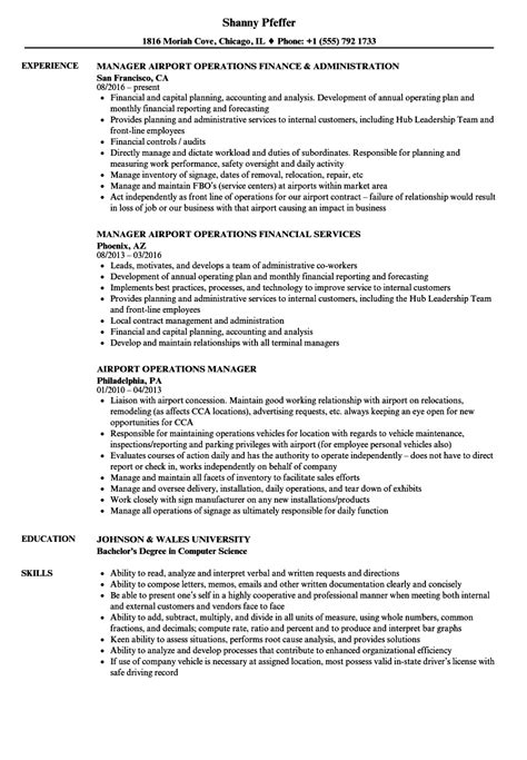 Airport Operations Manager Sle Resume by Operation Specialist Sle Resume Library Attendant Sle Resume