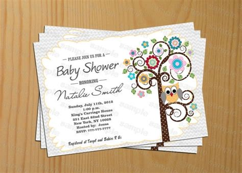 Free Printable Owl Baby Shower Invitations by Plain Owl Invitations Invitations Ideas