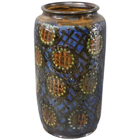 large ceramic floor vase by herman k 228 hler circa 1930 for