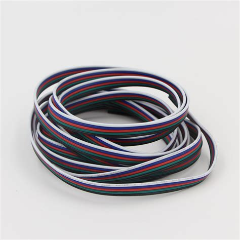 extend electrical wire 5m 10m 2 pin 4 pin 5 pin 22awg electrical wire tinned
