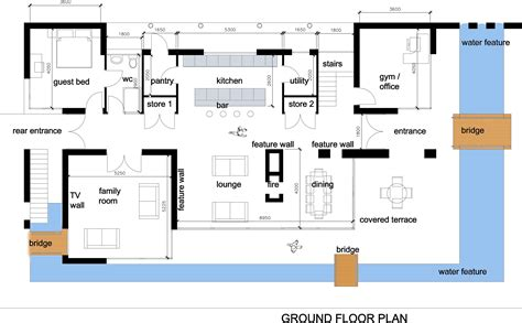 modern house with floor plan house interior design modern house plan images love