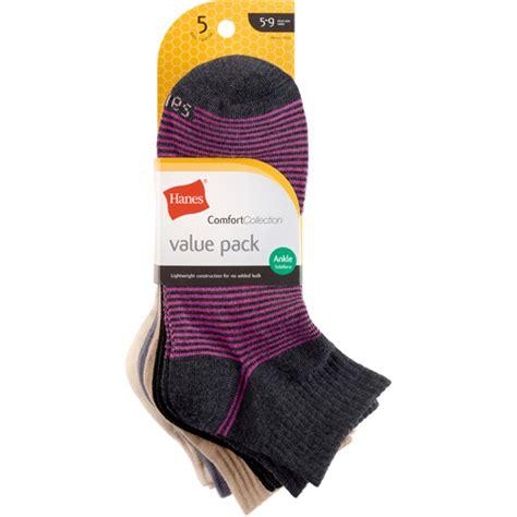 hanes comfort soft hanes ladies socks comfort soft ankle 5 pack walmart com