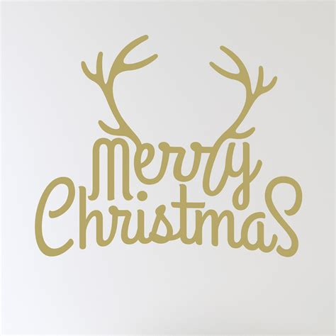 Merry Christmas Wall Stickers merry christmas antlers wall sticker wallstickers co uk