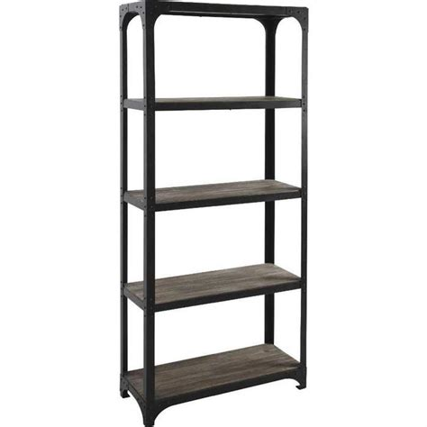 Etagere Metall by Etagere Bibliotheque En Bois Et Metal Achat Vente