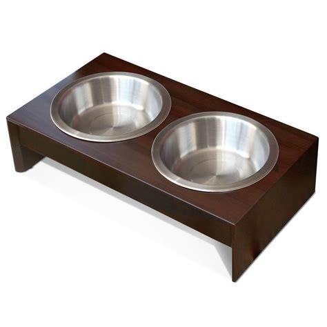elevated bowls elevated feeder small wood food dish raised bowls cat pet supplies ebay
