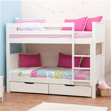 Stompa Classic Bunk Bed Buy Stompa Classic White Bunk Bed With 2 Underbed Drawers Bedstar Co Uk Bedstar