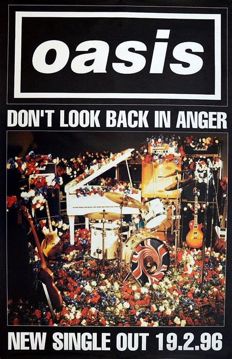 don t look back in anger testo oasis don t look back in anger poster