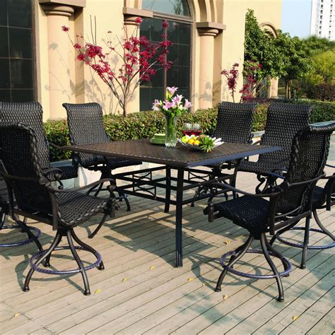 modern patio  furniture swivel lawn chairs dining set
