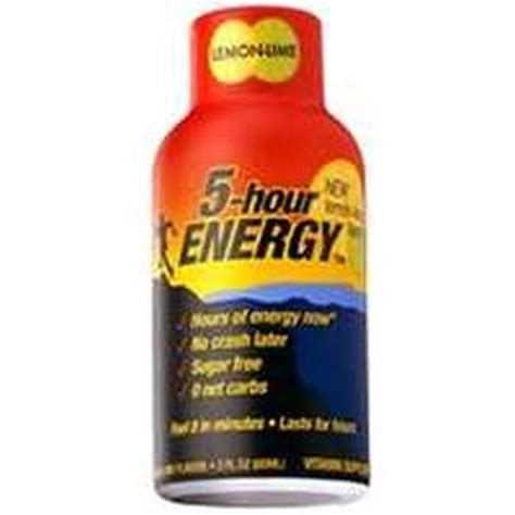 energy drink 1 hour 5 hour energy 418127 lemon lime sugar free energy drink 1