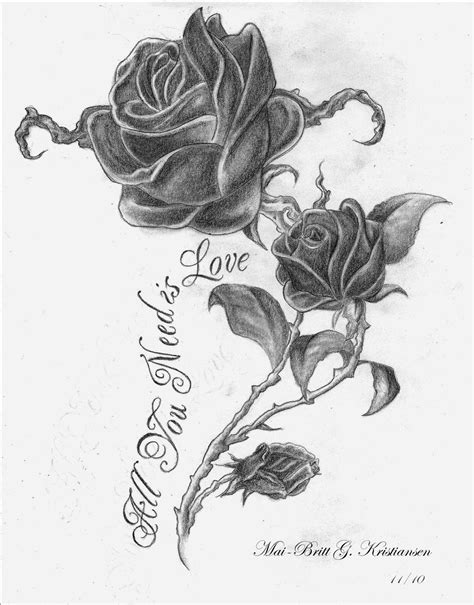 drawings of rose tattoos drawing tattoouvuqgwtrke