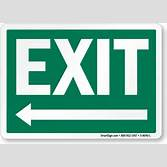 exit sign png