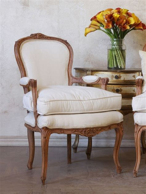 creative comforts furniture antique louis xv style armchair with raw wood finish