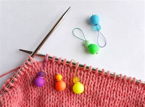 knitting markers diy rainbow stitch markers for knitting my poppet makes