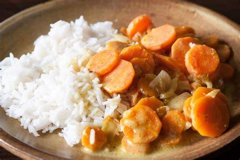 recette de cuisine simple pour debutant carottes au curry coco v 233 gane cuisine v 233 gane pour