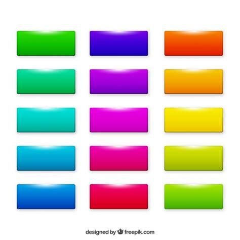 scaricare web gratis pulsanti web rettangolo colorato scaricare vettori gratis