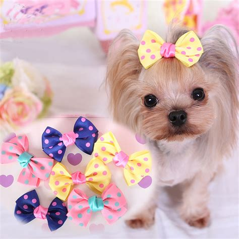 hair accessories for yorkie poos 10pcs lot fashion pet hair accessories yorkshire chihuahua