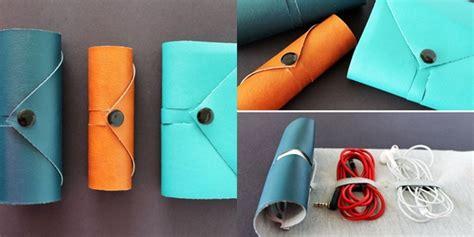 Kotak Pensil Gulung Bahan Kulit Diy Dompet Gulung Praktis Untuk Wadah Kabel Vemale